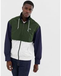 d7fe88f40944 Lacoste - Colour Block Zip Through Jacket In Navy - Lyst