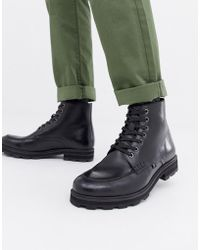 Farah - Jeans Chunky Military Lace Up Boot - Lyst