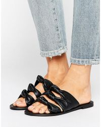 ASOS - Favorite Leather Knot Sliders - Lyst