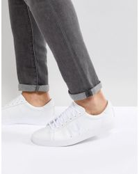 Fred Perry - Spencer Leather Trainers In White - Lyst