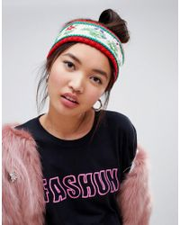 ASOS - Hand Embroidery Floral Headband - Lyst