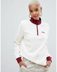Fila - Half Zip Sweatshirt In Polar Fleece - Lyst