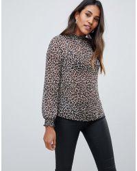 Oasis - Blouse In Leopard Print - Lyst
