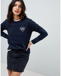 Tommy Hilfiger - Tommy X Love Sweatshirt With Love Heart Embroidery - Lyst