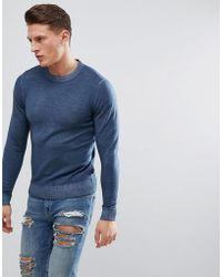 Ted Baker - Crew Neck Knit Jumper In Wool - Lyst