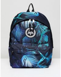 9c05f67bdee1 Hype - Neon Palm Print Backpack In Black - Lyst