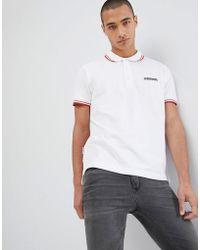 Lambretta - Tipped Polo Shirt - Lyst