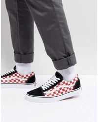 f5c5e718961ea4 Vans Old Skool Checkerboard Sneakers In White V004ojjt5 in White for ...