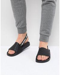 Slydes - Roamer Logo Strap Sliders In Black - Lyst
