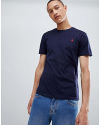 48a039f4dae Polo Ralph Lauren 2 Pack Stretch Slim Fit Cotton T-shirts In Black ...