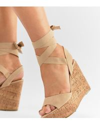 Truffle Collection - Tie Leg Wedges - Lyst