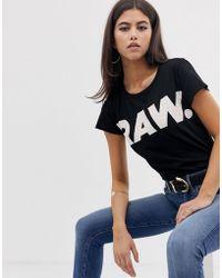 89588bf8 G-Star RAW - Oluva Organic Cotton T-shirt With Raw Logo - Lyst