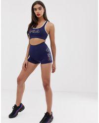 Fila Short legging avec logo sur le côté (ensemble - Bleu