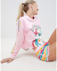 ASOS - Design Lounge My Little Pony Crop Sweat And Short Set - Lyst
