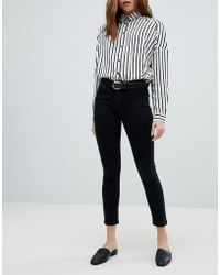 ONLY - Push Up Skinny Jean In Black - Lyst