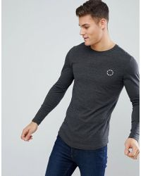Jack & Jones | Long Sleeve T-shirt With Chest Branding | Lyst