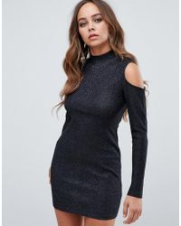 AX Paris - Open Shoulder Bodycon Dress - Lyst