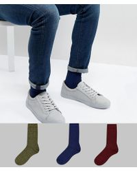 ASOS - Socks In Twisted Yarns 3 Pack - Lyst