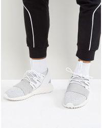 pretty nice d0f84 5fd2c adidas Originals - Tubular Doom Primeknit Trainers In Grey By3553 - Lyst