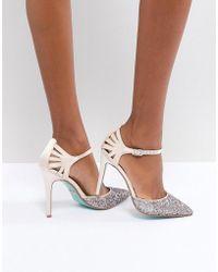 Betsey Johnson - Blue By Betsy Johnson Blush Avery Heeled Wedding Shoes - Lyst