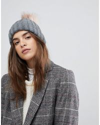 Warehouse - Faux Fur Pom Hat - Lyst