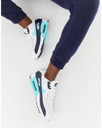Nike - Air Max 90 Essential Trainers In White Aj1285-102 - Lyst