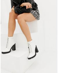 ASOS - Elm Chunky Lace Up Boots - Lyst
