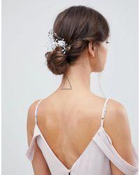 ASOS - Design Bridal Pearl And Crystal Spray Hair Comb - Lyst