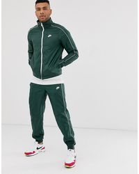 Nike Зеленый Спортивный Костюм С Логотипом - Зеленый