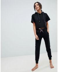 Ann Summers - Striped Attitude Cropped Hoody Pyjama Set - Lyst