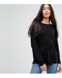 ASOS - Oversized T-shirt With Batwing Detail - Lyst
