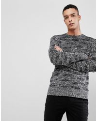 AllSaints - Knitted Jumper In 100% Cotton - Lyst