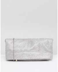 Skinnydip London | Rhinestone Foldover Clutch Bag | Lyst