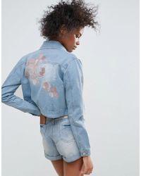 Urban Bliss | Macy Embroidered Denim Jacket | Lyst