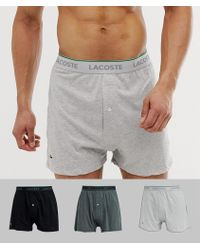 e4434da11a51ae Lacoste - Essentials Knit Boxer 3 Pack - Lyst