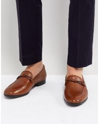 Dune - Loafers In Tan Leather - Lyst