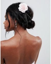 ASOS - Design Floral Back Hair Chain - Lyst