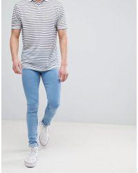 Dr. Denim - Leroy Pure Light Blue Super Skinny Jeans - Lyst