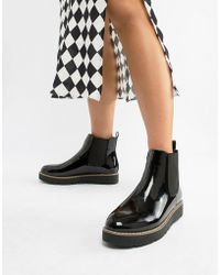 London Rebel - Chunky Chelsea Boots - Lyst
