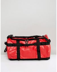 The North Face - Base Camp Duffel Bag Small 50 Litres In Red/black - Lyst