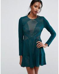 BCBGMAXAZRIA - Bcbgmaxazria Panelled Mini Dress - Lyst