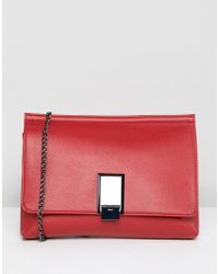 ASOS - Design Chunky Pinch Lock Clutch With Detachable Chain Strap - Lyst