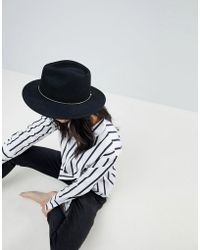ASOS - Felt Panama Hat With Metal Ball Band With Size Adjuster - Lyst
