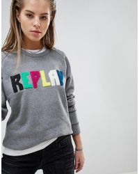Replay - Multi Colour Logo Sweat - Lyst