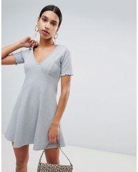 613fb5f847 ASOS Silver Jersey Mesh Bodycon Beach Dress in Metallic - Lyst