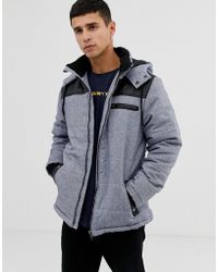 Another Influence - Zip Through Hooded Quilted Jacket - Lyst