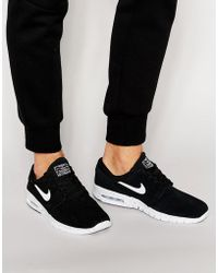 best sneakers 89f37 86528 Nike - Janoski Max Trainers In Black 685299-002 - Lyst