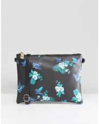 b25893f8de13a Oasis - Floral Print Cross Body Bag - Lyst