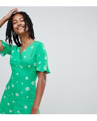 Reclaimed (vintage) - Inspired Romper In Green Daisy Print - Lyst