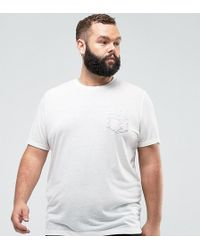 PLUS T-Shirt With Aztec Pocket In Linen Mix - White Asos Buy Cheap Get Authentic Buy Cheap Looking For Store Sale Online Discount Amazon sYSe0Qt